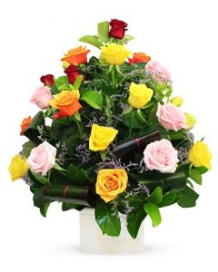 20 LONG MIXED Roses Arrangement
