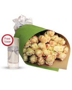 2 Dozen Champagne Roses Bouquet