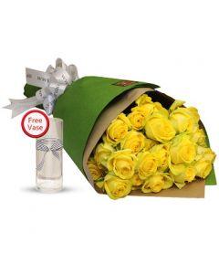 2 Dozen Yellow Roses Bouquet