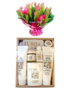 Aromababy Girl Gift Set with Flowers