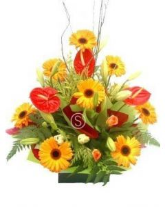 Bright Orange Arrangement
