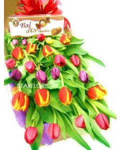 20 Boxed Tulips and Chocolates