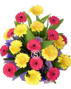 Bright Gerbera Arrangement