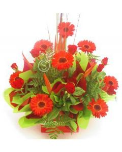 Assorted Red Floral Arrangement
