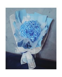 Preserved Hydrangea Bouquet- Blue