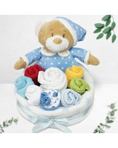 Baby Boy Nappies Bouquet