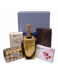 Chocolate Hamper and Moet champagne