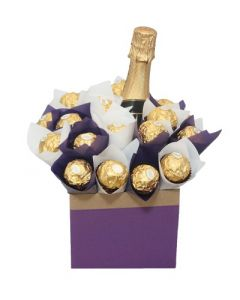 Chocolate Bouquet and champagne