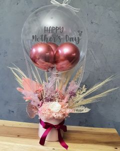 Preserved Mother's Day Arrangement with Balloon