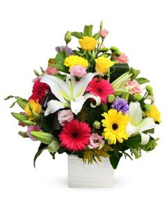 Gerberas, Roses and Lilies