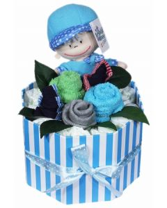 Newborn Baby Boy Nappies Bouquet
