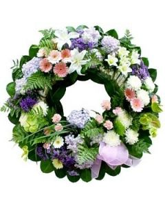 Wreath in Lilac and White