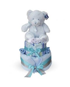 My First Blue Teddy Cake