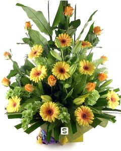 Roses Liliums and Gerbera Delight