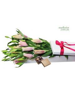 Oriental Lilies Gift Box