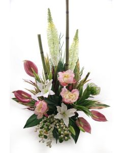 Artificial Flower Arrangement in pinks