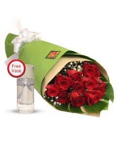 A Dozen Red Roses Bouquet