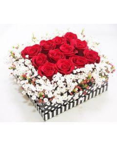 12 Melti Roses Cube