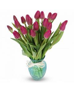 20 Tulips in Vase - Melbourne only