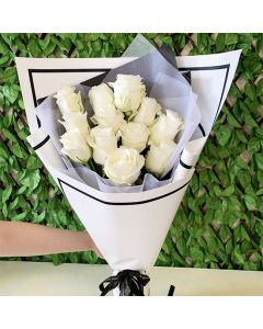 Luxury Collection - A Dozen Long Stem White Roses