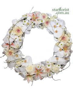 Extra Large White Wreath