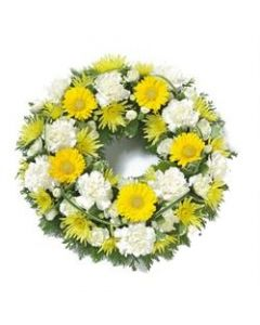 Yellow and White Wreath