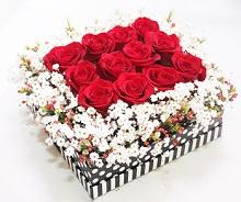 12 Rose in Cube
