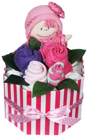 Newborn Baby Girl Nappies Bouquet