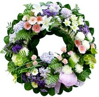 Wreath in Lilac and Whites