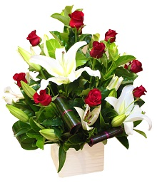 Oriental Lilies and Roses Valentine